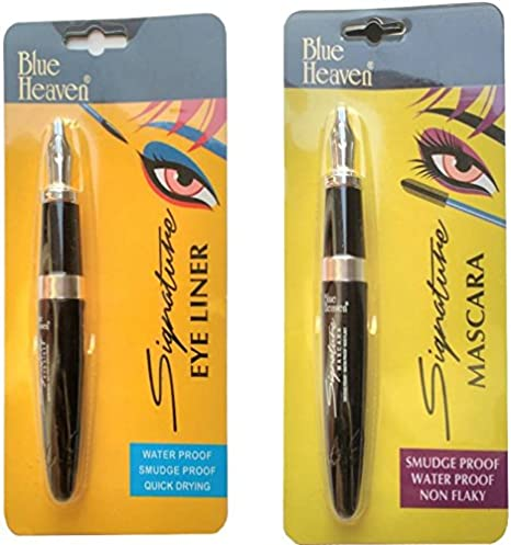 d5313dfdf3d Buy BLUE HEAVEN SIGNATURE EYELINER, MASCARA, WATERPROOF AND SMUDGEPROOF, COMBO  BY BEAUTYANDCARE Online at Low Prices in India - Amazon.in