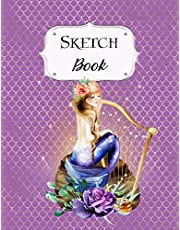 Sketch Book: Mermaid | Sketchbook | Scetchpad for Drawing or Doodling | Notebook Pad for Creative Artists | #1 | Purple