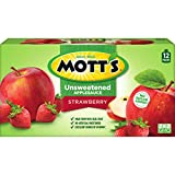 Mott's Unsweetened Strawberry Applesauce, 3.2 oz pouches, 12 count