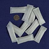 "Silica Gel Desiccants 1 3/8"" x 2 5/8"" Inches -10 Silica Gel Packets of 5 Grams Each by Dry-Packs"
