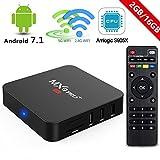 Android 7.1 TV Box,2018 MXQ Pro+ 2GB RAM 16GB ROM Amlogic S905X 2.4G/5G Dual Band WiFi BT Lan Google Media Player