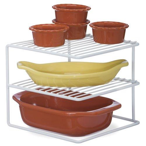 SKB family Kitchen Cabinet Corner Storage Shelf, 8.25'' x 9.5'' x 4.5 lbs