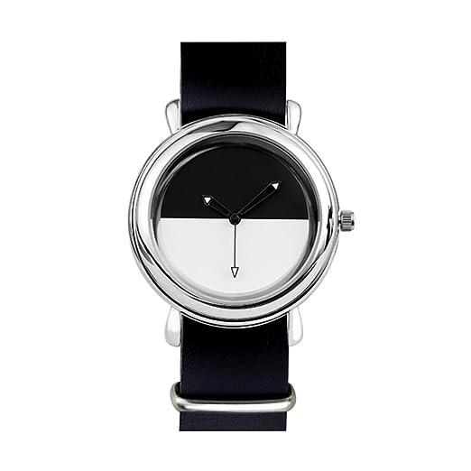 Léger À Aiguilles Montre Noir Et Bracelet Blanc Quartz montre SGMzpVqU