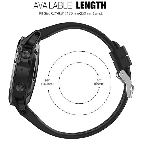 Garmin Fenix 5 Bands, SKYLET Quick Fit Silicone Replacement Accessories Straps for Garmin Fenix 5/Forerunner 935 GPS Watch (Watch Not Included)