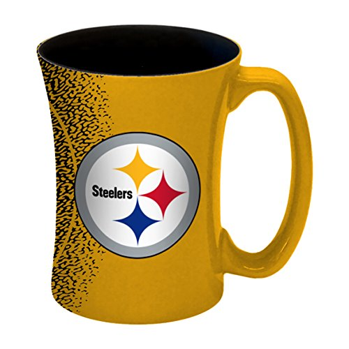 (NFL Pittsburgh Steelers Mocha Mug, 14-ounce, Yellow)