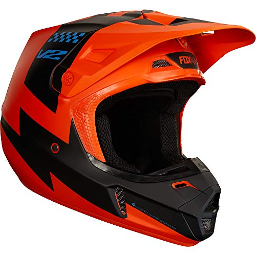 Fox Racing 2018 V2 MASTAR HELMET ORANGE L (Fox V2 Race)