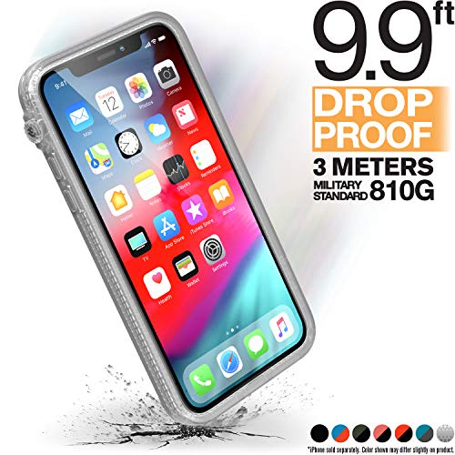 Catalyst iPhone X Case [Compatible iPhone Xs] Impact Protection, Military Grade Drop and Shock Proof Premium Material Quality, Slim Design Clear ()