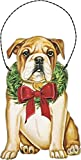 Primitives by Kathy Ornament - Christmas Bulldog Home Decor