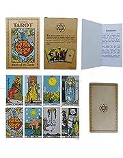 Tarot Kartları - 78 Parça/Set - Orijinal Smith-Waite Rider 100 Sayfa Kılavuz Kitabı ile Yüzyıllık Güverte - Pamela Colman Başlangıç veya Deneyimli