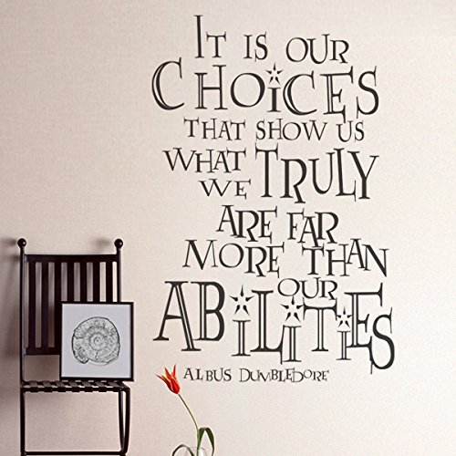 It Is Our Choices Custom Vinyl Inspirational Wall Decal