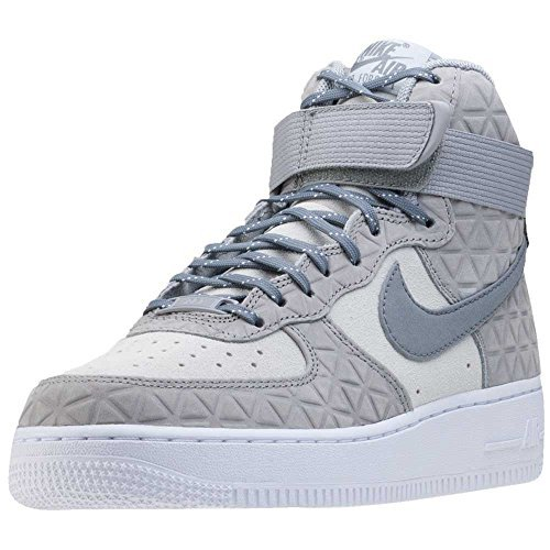 finest selection 41b95 bca6c Galleon - Nike AIR FORCE 1 HI PRM SUEDE Womens Basketball-shoes 845065-001 5  - MATTE SILVER COOL GREY-PURE PLATINUM