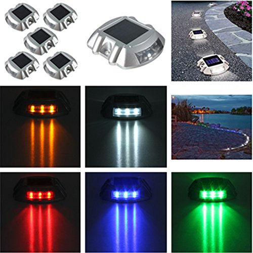 SOLMORE 6 LED Solar Lamps Outdoor Road Driveway Pathway Path Yard Light Road Waterproof