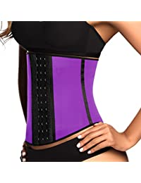 Women's Faja Deportiva Workout Waist Cincher with 3 Hooks
