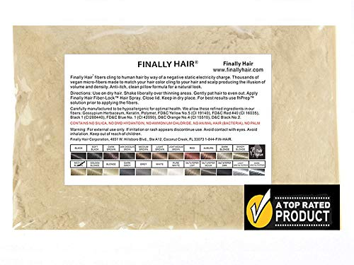 (Finally Hair Fibers Refill Bag - 56 Grams of Premium Hair Loss Concealer in a Refill Bag (Light)