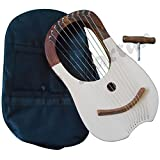 Traditional-Lyre-Harp-10-Metal-Strings-Rosewood-Lyra-Harp-Harfe-Arpa-Case