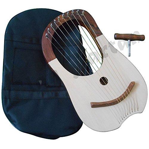 Traditional-Lyre-Harp-10-Metal-Strings-Rosewood-Lyra-Harp-Harfe-Arpa-Case by Clan Tartan