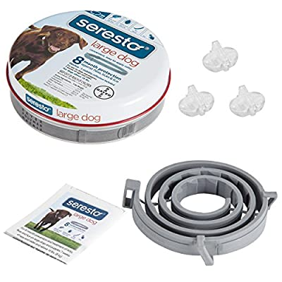 Flea and tick Prevention for Dogs over 18 Lb, Adjustable & Waterproof Flea and Tick Collar by Cfdeer