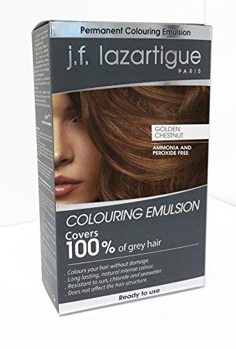 (JF Lazartigue Women's Color Emulsion Golden Chestnut Hair Color )