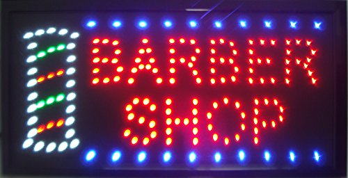 (CHENXI Led Barber Shop Business Store Hair Cutting Shop Open Signs 48X25 cm Indoor Ultra Bright Daily Using Shop Store Sign of Led (48 X 25 cm, Barber Shop))