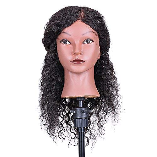 Cosmetology Mannequin Head Anself Hairdressing Training Head for Hair Styling Practice Hair Braiding Dummy Head (03#)