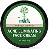 TreeActiv Acne Eliminating Face Cream | Best Natural Extra Strength Fast Acting Treatment for Clearing Facial Acne | Gentle Enough for Sensitive Skin, Adults, Teens, Men, Women | Tea Tree | 2 fl oz