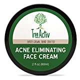 Facial Moisturizer Pregnant - TreeActiv Acne Eliminating Face Cream | Best Natural Extra Strength Fast Acting Treatment for Clearing Facial Acne | Gentle Enough for Sensitive Skin, Adults, Teens, Men, Women | Tea Tree | 2 fl oz