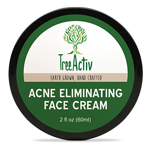TreeActiv Acne Eliminating Face Cream | Best Natural Extra Strength Fast Acting Treatment for Clearing Facial Acne | Gentle Enough for Sensitive Skin, Adults, Teens, Men, Women | Tea Tree (Natural Results Acne Treatment)