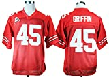 2016-2017 No.45 Archie Griffin College Football Throwback Jersey Mens Red Large