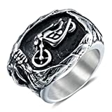 Best Aooaz Friends Unisex Rings - Aooaz Jewelry Band For Men Stainless Steel Motorbiker Review