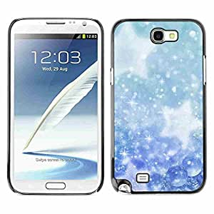 Shell-Star ( Winter Snowflakes Snow Stars ) Fundas Cover Cubre Hard Case Cover para Samsung Galaxy Note 2 II / N7100