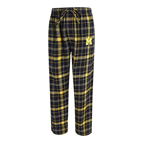 Concepts Sport Men's NCAA Ultimate Flannel Pajama Pants with Logo-Michigan Wolverines-Large
