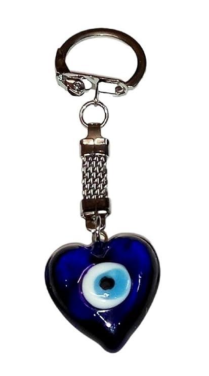 Llavero Ojo Turco cristal en corazón: Amazon.es: Equipaje