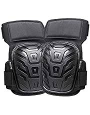 Knee Pads, Preciva Professional Gel Knee Pads for Work, Heavy Duty High Anti-Slip Straps and Double Gel Cushion Foam Padding Construction Tool Kneepads - Cleaning, Flooring, Gardening