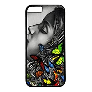 Abstract Design PC Black Case for iphone 5c Butterfly in the Dark