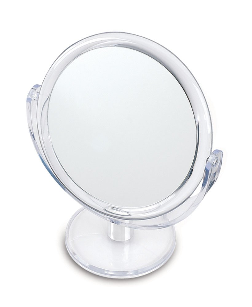 Danielle Ultra Vue Two-Sided Makeup Mirror, 12X Magnification, Clear Acrylic