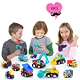 12PCS Pull-Back Construction Vehicles and Race Cars