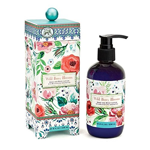 (Michel Design Works Scented Hand & Body Lotion with Shea Butter, Wild Berry Blossom )