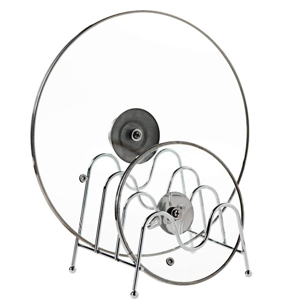 Fasteer Funzionale Supporto porta pentole – Ideale portacoperchi e stoviglie – Versatile rastrelliera porta stoviglie cucina