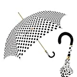 Pasotti Dots White / Black Umbrella