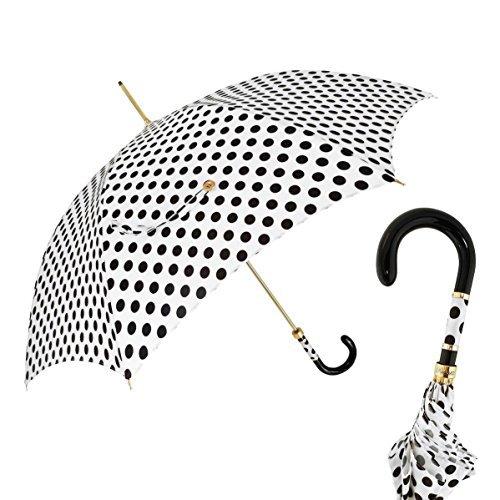 Pasotti Dots White / Black Umbrella by Pasotti
