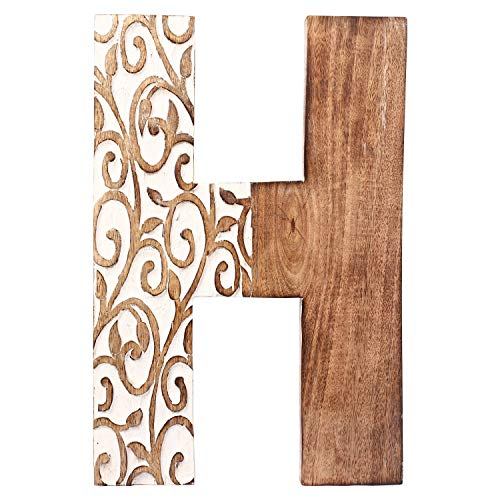 Aheli Wooden Home Wall Decor Sign Alphabet Letter H Bollywood Wedding Birthday Party Decorations