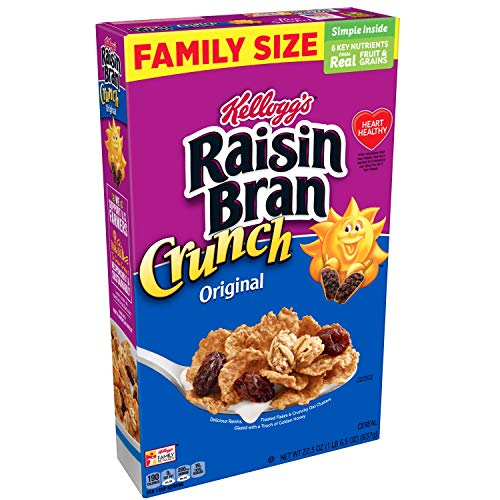 16 Boxes of Kellogg's Raisin Bran Crunch Breakfast Cereal Only $26.30 **$1.64 Each**