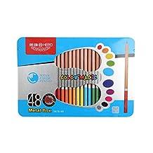 Bianyo Hero 48pcs Watercolor Pencil lapis de cor Professional Lead-free Color Pencil For Artist Sketch