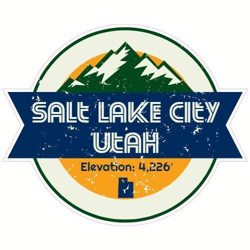 U.S. Custom Stickers Salt Lake City Utah Mountain Sticker, 3