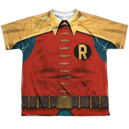 Batman+Retro+Shirts Products : Batman Classic Tv Robin Costume Big Boys Sublimation Shirt
