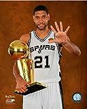 NBA Tim Duncan San Antonio Spurs 2014 Champions Trophy Photo (Size: 8'' x 10'')