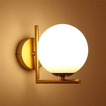 JDFM5 Applique ronde à LED, doré Créatif Rétro Applique Murale ...