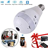 Best Hidden Outdoor Security Cameras - LED Bulb Camera Wireless Panoramic LED Hidden Cameras Review