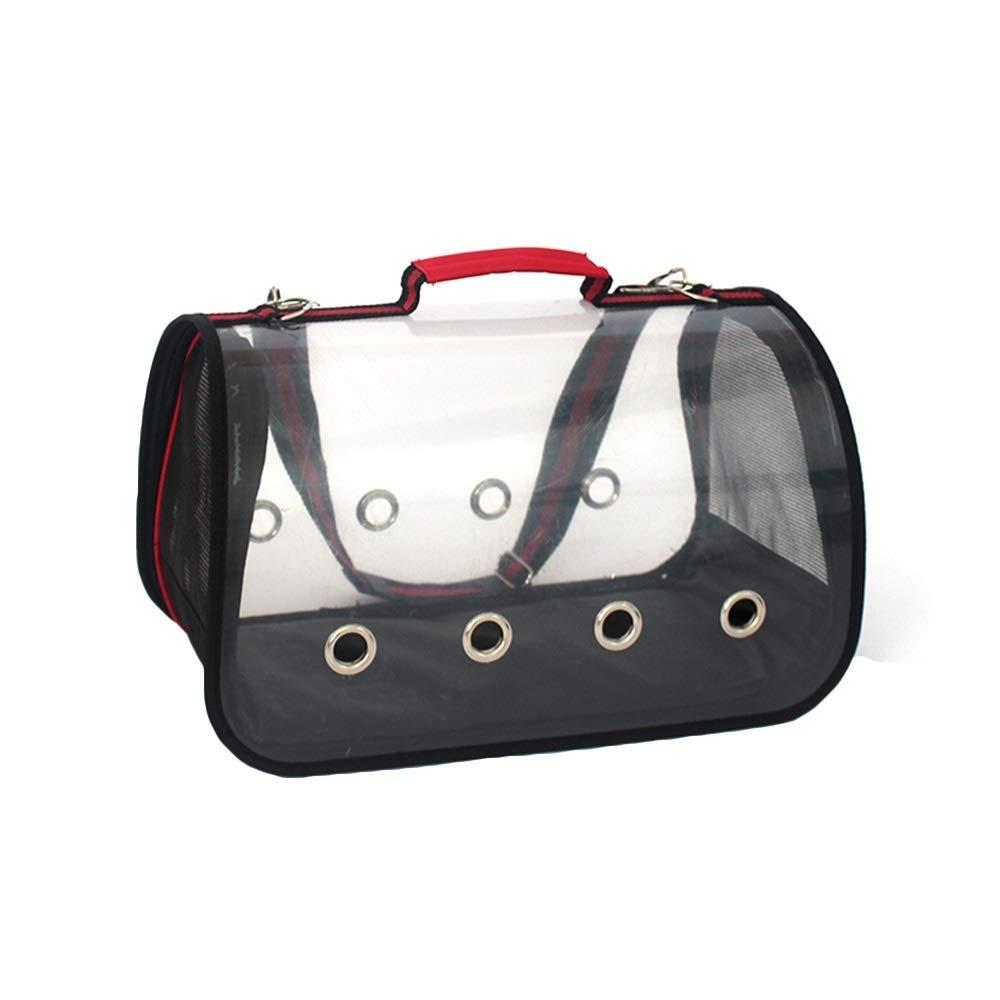 Red SPet Backpack Outgoing Carrying Case Shoulder Bags Handbag Dog Bags Cat Cage (color   Black, Size   M)