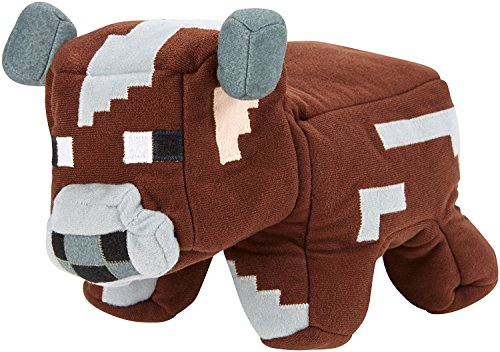 Minecraft Reversible Plush, Cow to Raw Beef 8''